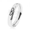 Fényes acél gyűrű ezüst színben, két szív körvonal