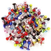 Fülporc piercing - egy színes cirkónia kővel