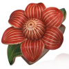 Bőr csuklópánt - szőlő virág, piros