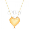Nyaklánc 14K sárga aranyból - szimmetrikus, lapos szív, finom lánc