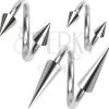 Piercing sebészeti acélból, spirál és tüske 1,2 mm
