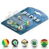 Nyelv piercing készlet - cannabis, Jamaica