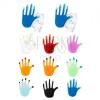925 ezüst fülbevaló, színes kézfej fényes fénymázas felülettel
