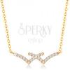 14K sárga arany nyakék - egymást keresztező csillogó vonalak, vékony nyaklánc