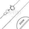 925 ezüst nyaklánc - ferde, lekerekített láncsor, 0,8 mm