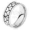 Gyűrű 316L acélból, két szívkörvonal sáv