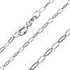 Sterling ezüst lánc - hosszú ovális szemek, 2 mm