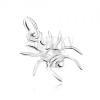 925 ezüst medál, pók