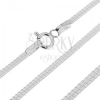 Lapos ezüst nyaklánc - csatolt nyégyzetek két sorban, 1.7 mm
