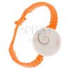 Narancssárga zsinóros fonat kerek kagyló imitációval