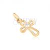 ARany medál - kereszt keskeny csomókból, cirkónia közép