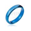Volfrám karikagyűrű legömbölyített szélekkel, sötétkék, 4 mm