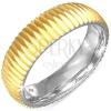 Arany színű gyűrű sebészeti acélból - recés