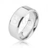 Fényes sima ezüst színű titán gyűrű