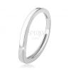 925 ezüst gyűrű, hullámos vonal, fényes sima felület