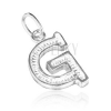 925 ezüst medál - mintázott G betű