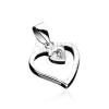 Ezüst medál - szívkeret kis cirkonköves szívvel
