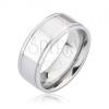 Fényes ezüst színű titánium karika gyűrű két karcolattal