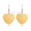 Arany színű acél fülbevaló, szimmetrikus szívek bevágásokkal