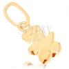 Medál 9K sárga aranyból - kicsi maci, sima mérsékelten kidomborodó felület