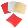Ajándék dobozka papírból, fényes felület, különböző színek