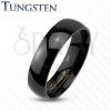 Tungsten gyűrű fekete árnyalatban, tükörfényű sima felszín, 2 mm