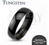 Sima fekete Tungsten karikagyűrű, 6 mm gyűrű