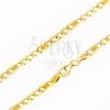 Arany nyaklánc 585 - három szem és egy hosszabb hálómintás, 445 mm