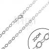 Nyaklánc ezüstből - sima, ovális szemek, 2,5 mm