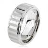 Tungsten gyűrű, ezüst színben, fényes és matt sávok