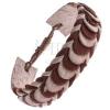 Karkötő bőrből - karamellbarna és bézs fonott bőrszalagok