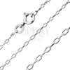Fényes ezüst nyaklánc - ferdén kapcsolt oválisok, 1.6 mm