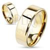 Karikagyűrű acélból hasított peremmel, arany színű, 8 mm