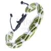 Karkötő madzagokból - zöld-fehér színek, hullámos, csíkos