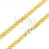 Nyaklánc 14K sárga aranyból - elipszis alakú nagyobb és kisebb szem, 450 mm