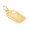 Arany medál - szívkörvonallal kivágott tábla matt felszínnel