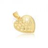 Arany medál - térbeli szabályos szív, gravírozott fél szív