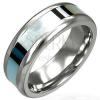 Sebészeti acél gyűrű - gyöngyházfényű