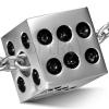 Medál sebészeti acélból ezüst színben - fényes dobókocka