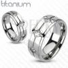 Titánium karikagyűrű - rombuszok, beágyazott cirkóniák