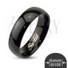 Egyszerű acél gyűrű - finom fekete felület, 6 mm