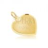 Arany medál - szabályos szív szatén felszínnel, lemetszett szélek