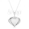 925 ezüst nyakék, nyaklánc és medál - kidomborodó szív vágatokkal