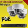 Hikvision 3 dome kamerás 1.3MP PoE IP szett - BŐVÍTHETŐ (hik-ip-3d01)