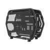 ID-Cooling Számítógépház - STREAM 1 (fekete, ablakos, 6xG1/4 csatlakozó és csövezés a vízhűtéshez, mATX, Aluminium)
