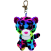 Ty. Plüss figura Beanie Boos Clip 8,5 cm DOTTY - sokszínű leopárd