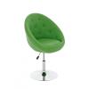 Lisa fotel, forgófotel zöld