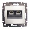 LEGRAND Valena telefon-csatlakozóaljzat 2xRJ11 fehér