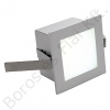FRAME BASIC LED fali süllyesztett lámpatest semleges fehér LED 1W négyzet ezüstszürke (111260)