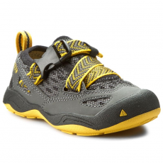 Keen Félcipő KEEN - Komodo Dragon 1014414 Black/Yellow